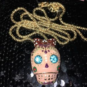 Day of The Dead💀Pink Sexy Skull Necklace